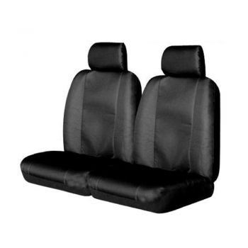 Canvas Seat Covers For Toyota Hilux Fronts 03/2005-2020 Black Single-Cab