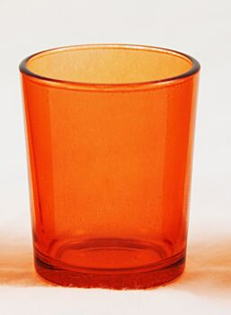 24 Pack - Orange Glass Table Tealight Candle Votive Cup Holder Table Event Decoration