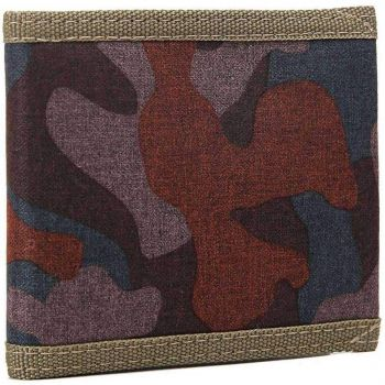Orange Men'S Canvas Camo Wallet