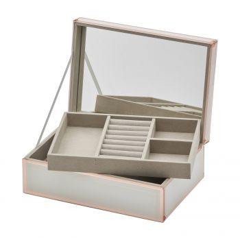 SARA White / Rose Gold Large Jewellery Box