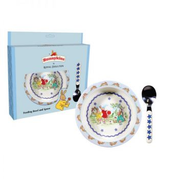 Bunnykins Feeding Bowl & Spoon - Shining Stars