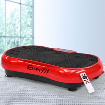 Everfit Vibration Machine Machines Platform Plate Vibrator Exercise Fit Gym Home Red