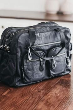 Carry All Black Protea Nappy Bag
