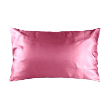 Std Satin Pillowcase 48cm x 73cm Dusty Rose