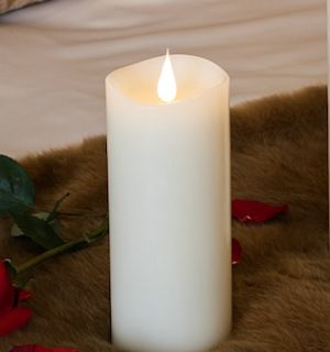 """7"""" White 3D Flickering Flame LED Candle"""
