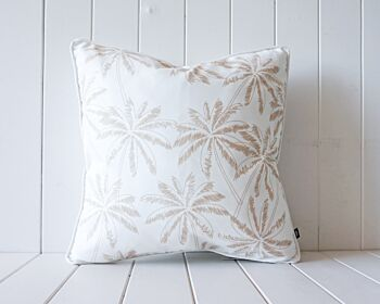 Outdoor Cushion - Sage on Natural - Palms - 45x45