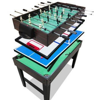 4-In-1 Soccer / Pool / Air Hockey / Table Tennis Tables Football Games Kids 4FT