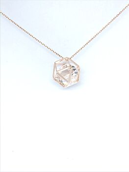Cubic Zirconia Cage Necklace