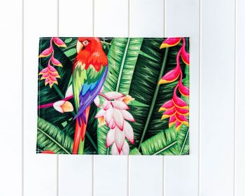 Placemat - Linen Look - Jungle Parrot B - 42x33cm
