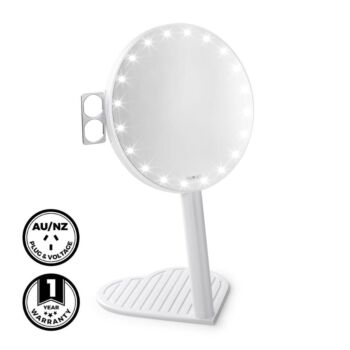 Glamcor Riki Graceful 7x Magnifying Mirror