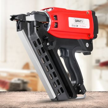 Giantz Cordless Framing Nailer 34 Degree Gas Nail Gun Portable Battery Charger