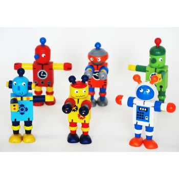 Wooden Flexi Robot 12pcs/Box