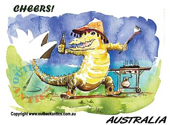 """Greeting Card """"Cheers Croc"""" Pack of 6"""
