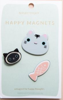 Happy Magnet Cat