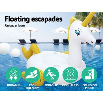 Bestway Inflatable Unicorn Pool Float Raft Swimming Lounge Toy Bed Play pool