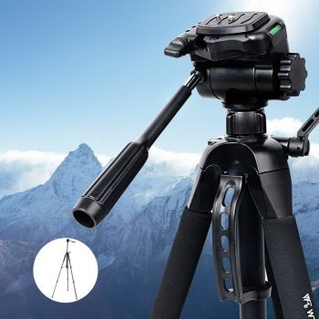 Weifeng Professional Camera Tripod Monopod Stand DSLR Ball Head Mount Flexible 160cm Black