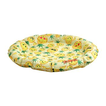 PaWz Pet Summer Cooling Mat Gel Bed Pad Non-Toxic M in Pineapple Pattern