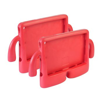 2 x Shockproof Tough Rubber Safe Tablet Case in Fuchsia Colour