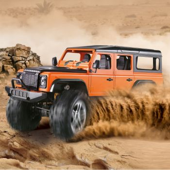 REMOTE CONTROLLED ROCK CRAWLER ORANGE AND GREEN