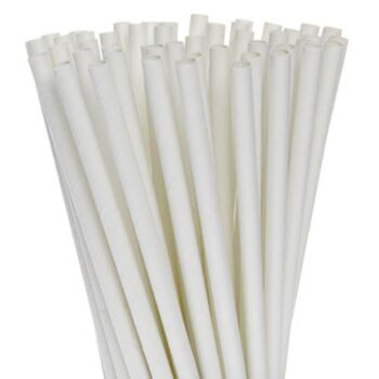 1,000 Pack - All White Biodegradeable Straws - 100% Natural Organic Eco Friendly Drinking Straws - Alternative to Plastic Throw Away