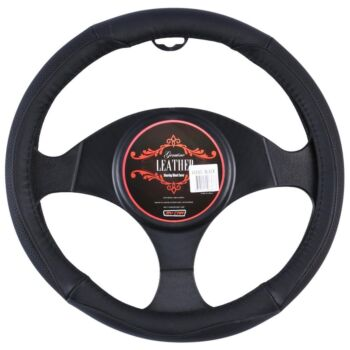 Vegas Steering Wheel Cover - Black [Leather]