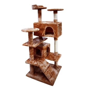 PaWz Cat Tree Scratching Post Trees Gym Wood House in Brown