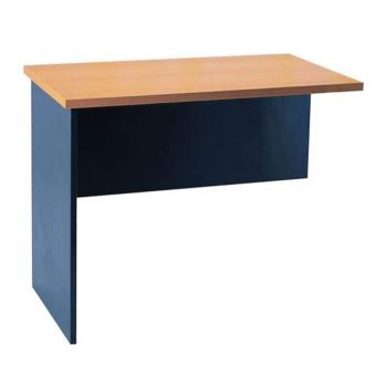 Mantone Return Office Desk - Select Beech an Ironstone