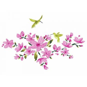 ROOMMATES Pink Flowering Vine Peel and Stick Wall Decal