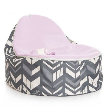 Chibebe Chevron Baby Bean Bag - Grape