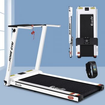 Everfit Electric Treadmill M6WH 420mm Belt 12kmh Fully Foldable Home Gym Exercise Running Machine Fitness Equipment Compact White