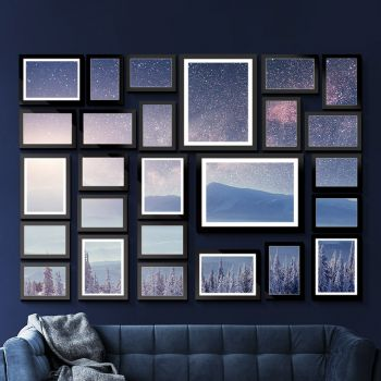 Photo Frame Frames Collage Picture Wall Set Hanging Art Home Decor Family Wedding DIY Present Gift 26 Pieces Pack Black