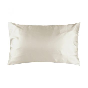 Std Satin Pillowcase 48cm x 73cm Cream