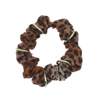 LEOPARD GOLD RING SCRUNCHIE