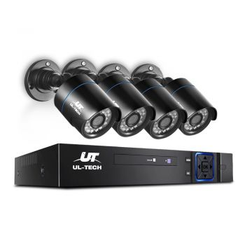 UL-tech CCTV 5MP Security Camera System 4CH 5 in 1 DVR Home Outdoor Day Night