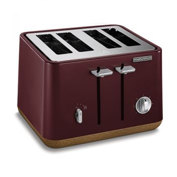 Morphy Richards Aspect Cork 4Slice Toaster Maroon - 240017
