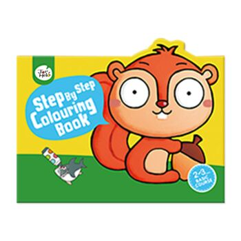 STEP BY STEP COLOURING BOOK 20 ANIMALS SQUIRREL