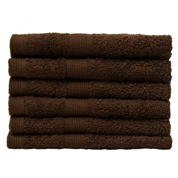 Egyptian Cotton Face Washer 33x33cm Cocoa