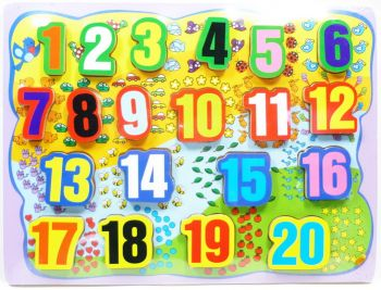 Wooden Numbers puzzle board
