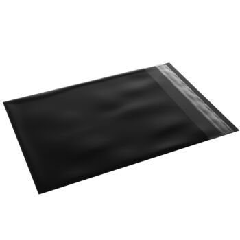 500 Black Courier Bags 350Mm X 480Mm [Poly Mailers] [Mailing Satchels]