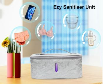 Ezy Sanitiser Unit with Fast Charge Wireless Charger - Sterlise and Stay Safe