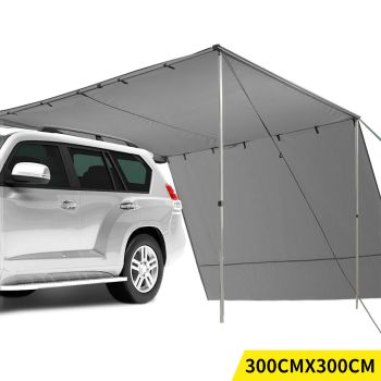 Mountview Car Awning Extension Roof Cover 3x3M in Charcoal Colour