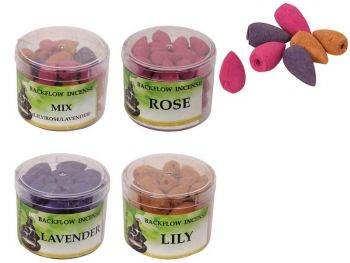 Backflow Incense Cones in Gift Tub - Rose