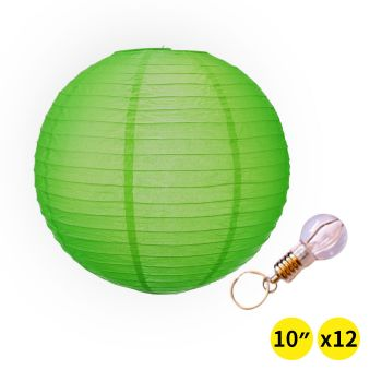 """Accents 12"""" Paper Lanterns for Wedding Party - Green Colour"""