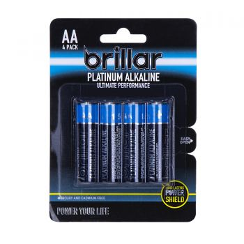 AA Platinum Alkaline Batteries 4 Pack