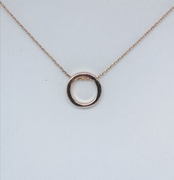 Rose Gold Circle Of Life Necklace