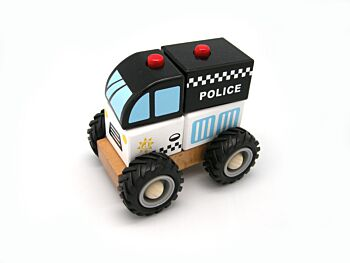 WOODEN BLOCK POLICE RUBBER WHE