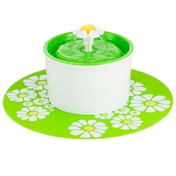 Automatic Electric Pet Water Fountain Drinking Bowl in Green