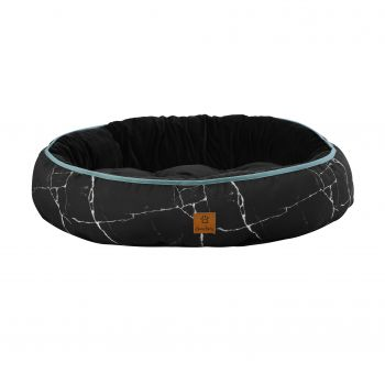 Charlie's Pet Reversible Oval Pad Bed - Black Marble Small