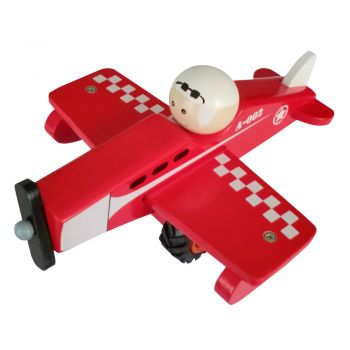 Wooden Airplane-Red