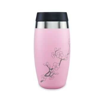 Ohelo 400ml  To-Go Tumbler With Etched Blossoms - Pink